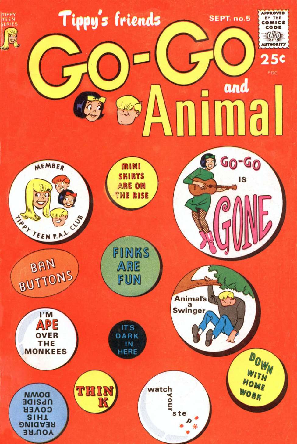 Comic Book Cover For Tippy's Friends Go-Go and Animal #5