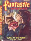 Cover For Fantastic Adventures v10 2 Slaves of the Worm Richard S. Shaver