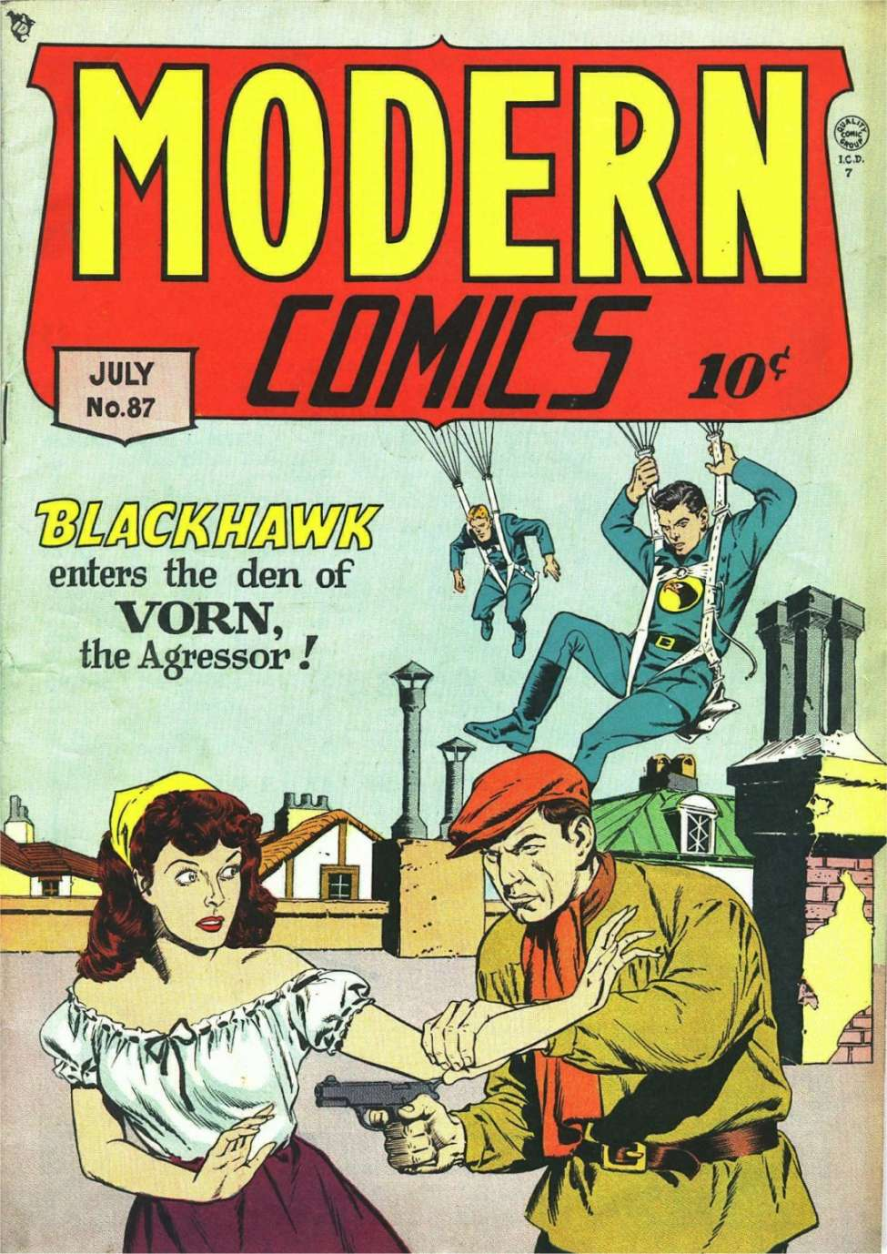 Comic Book Cover For Modern Comics #87
