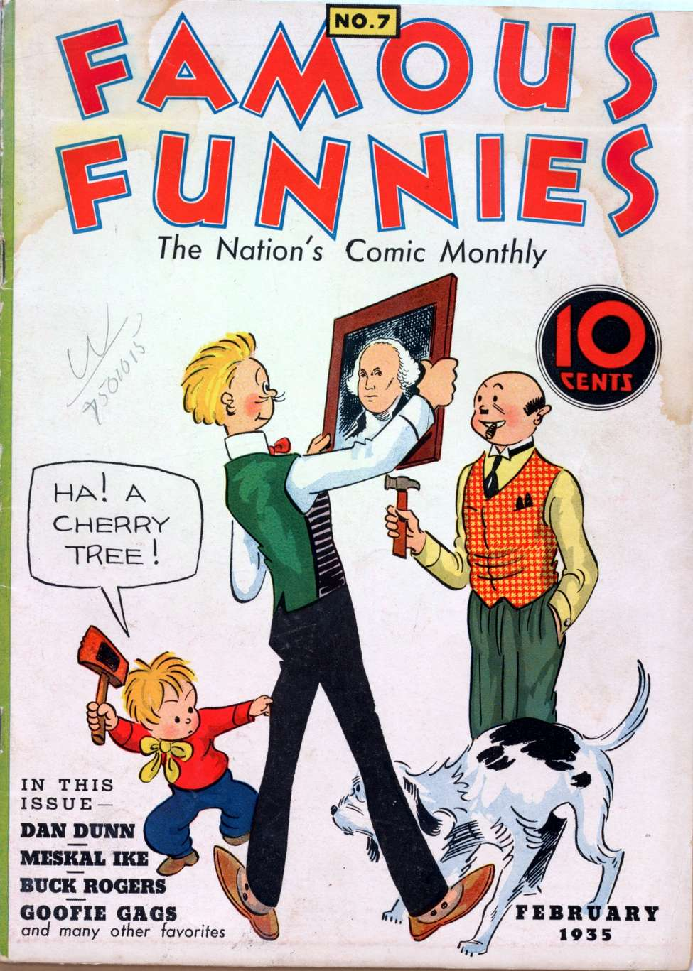 Comic Book Cover For Famous Funnies #7