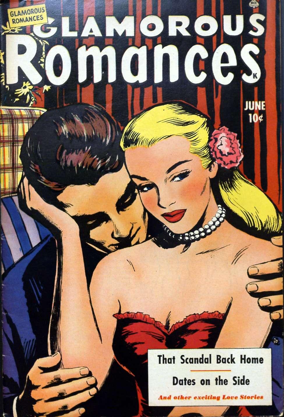 Comic Book Cover For Glamorous Romances #52 - Version 2