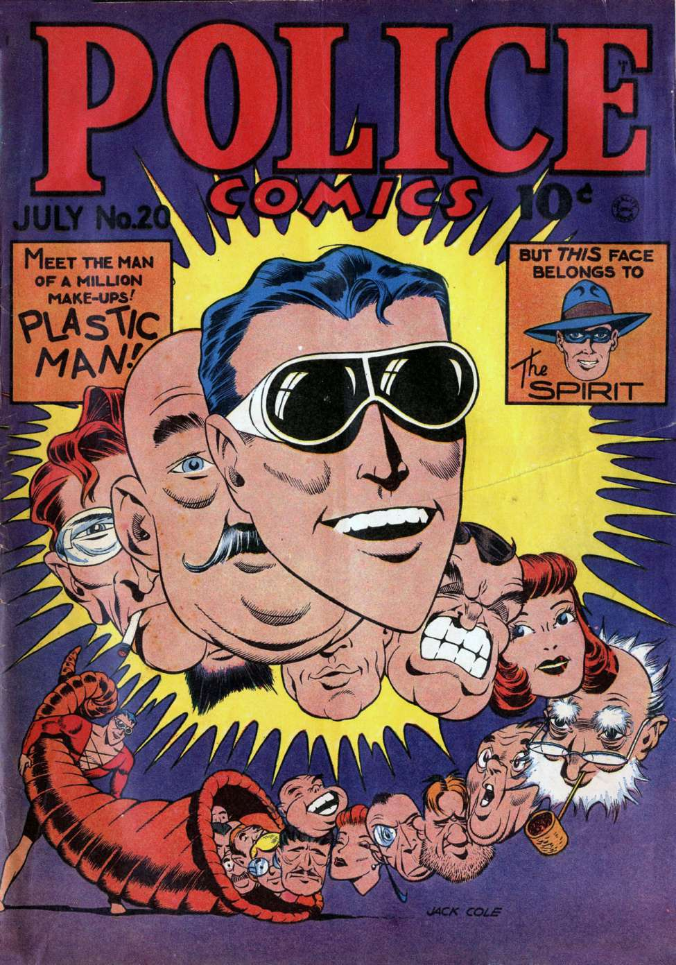 Comic Book Cover For Police Comics #20