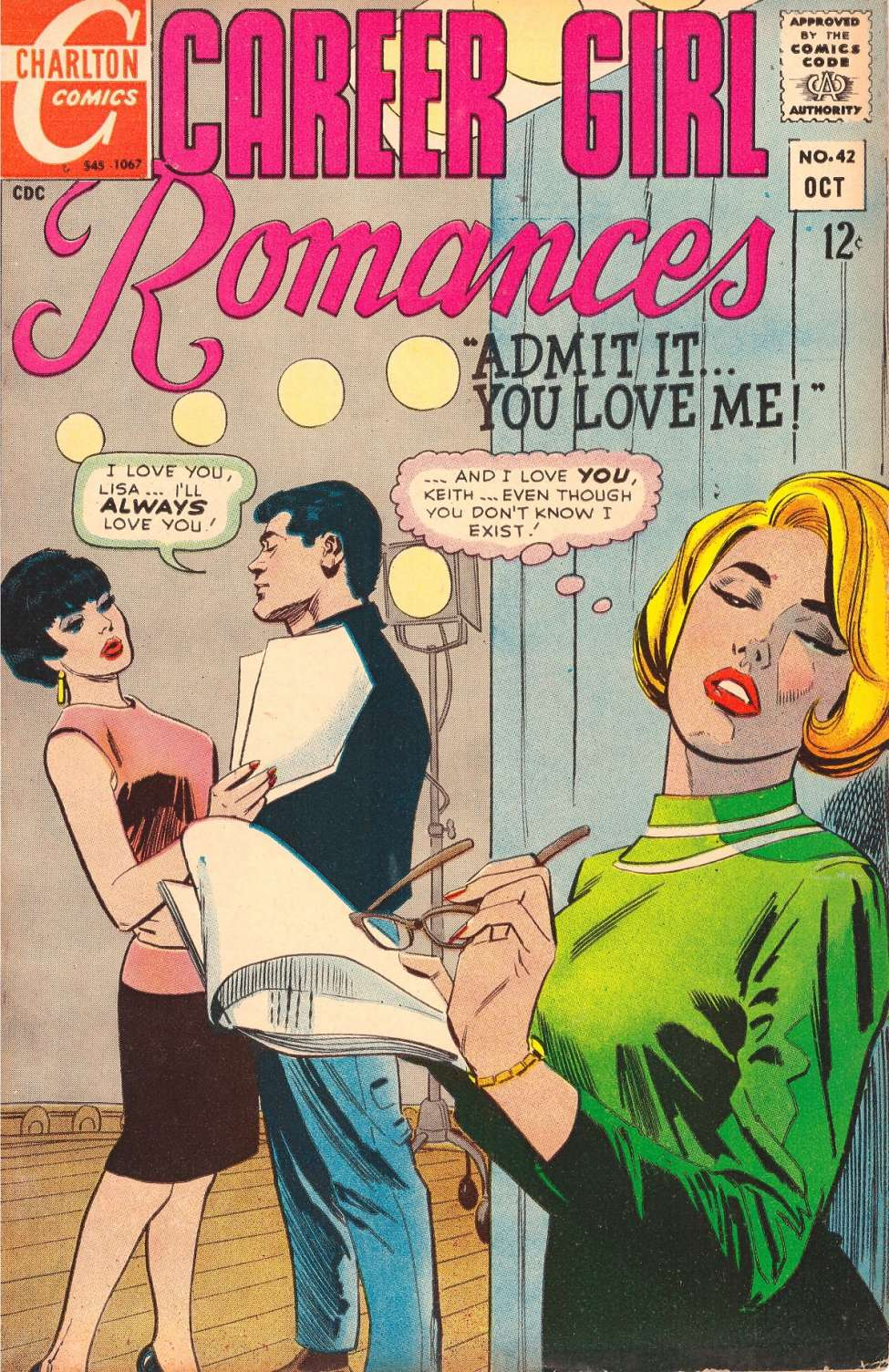 Comic Book Cover For Career Girl Romances #42