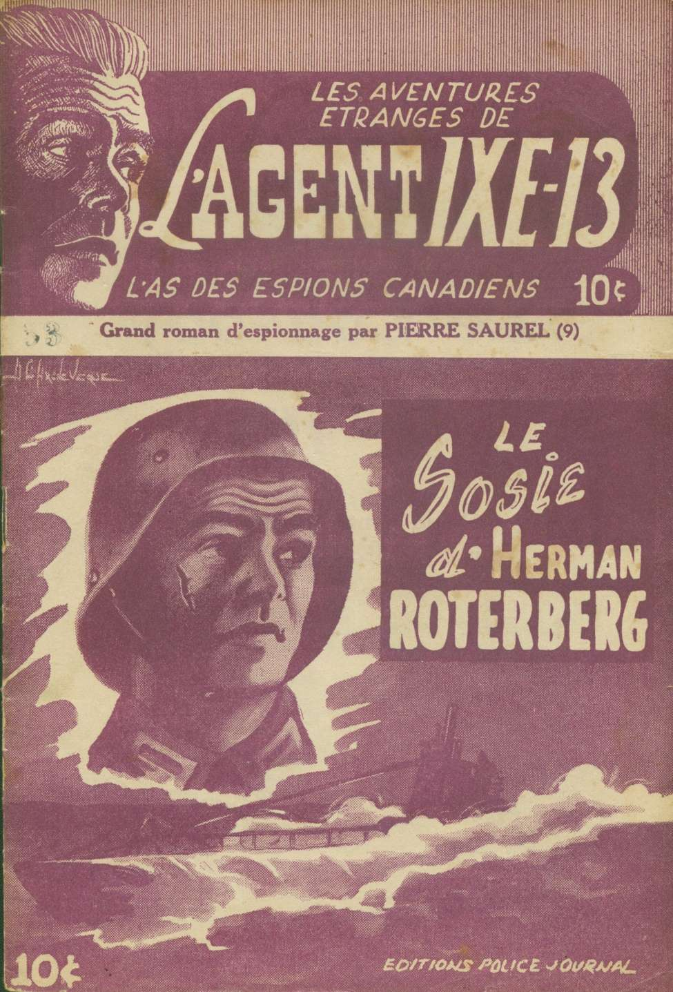 Comic Book Cover For L'Agent IXE-13 v2 009 – Le sosie d'Herman Roterberg