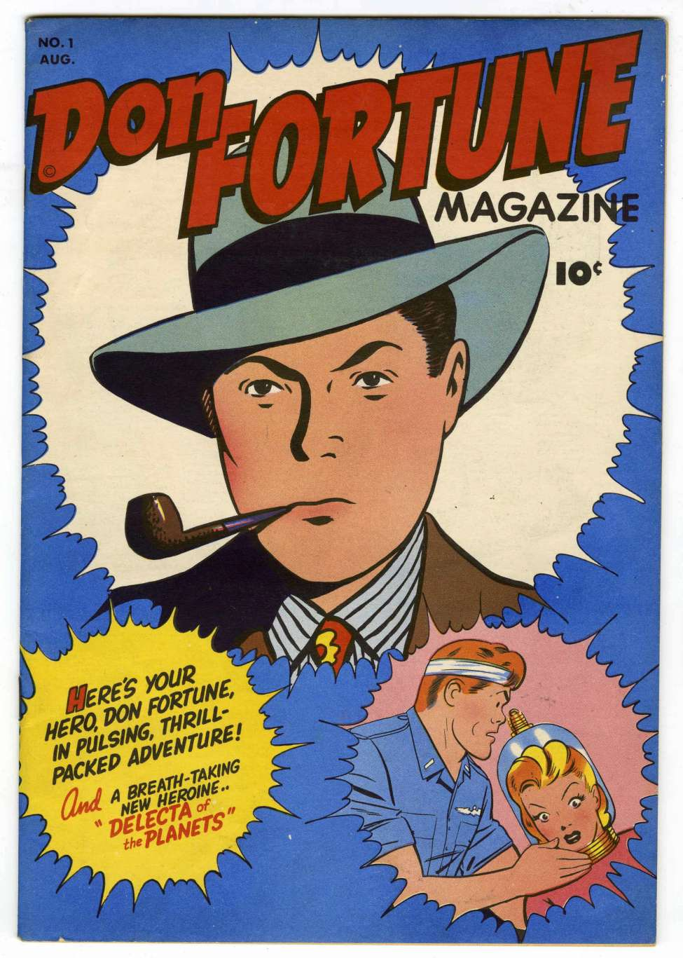 Comic Book Cover For Don Fortune Magazine #1