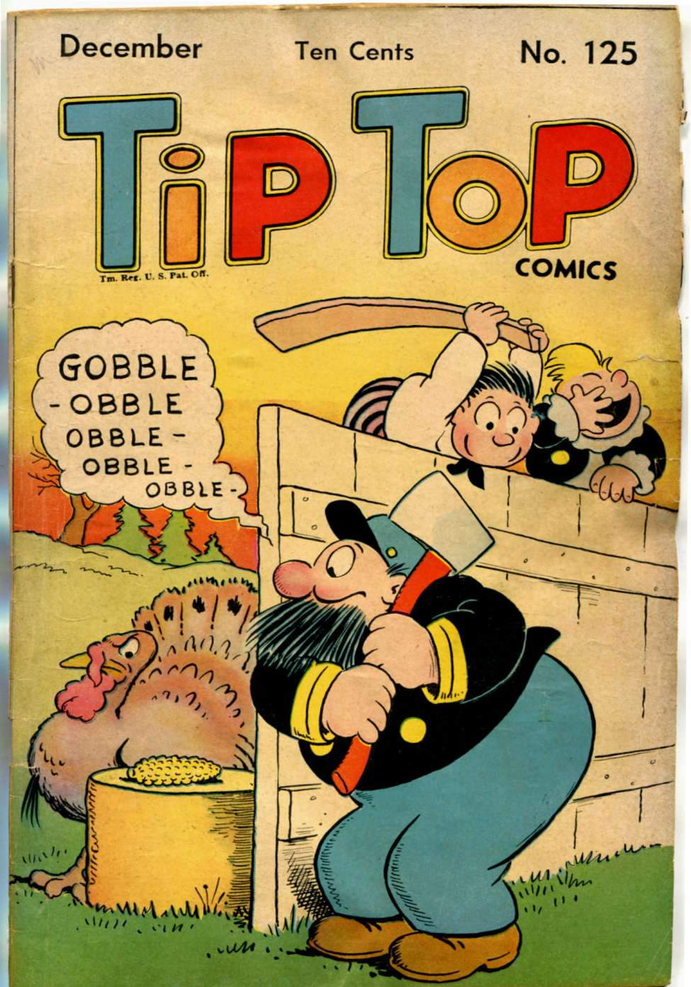 Comic Book Cover For Tip Top Comics 125