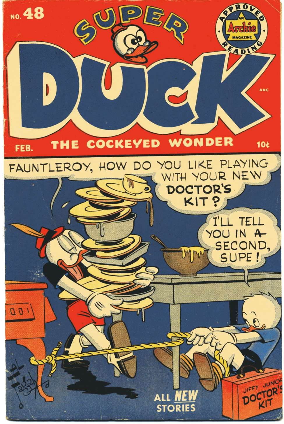 Comic Book Cover For Super Duck Comics #48