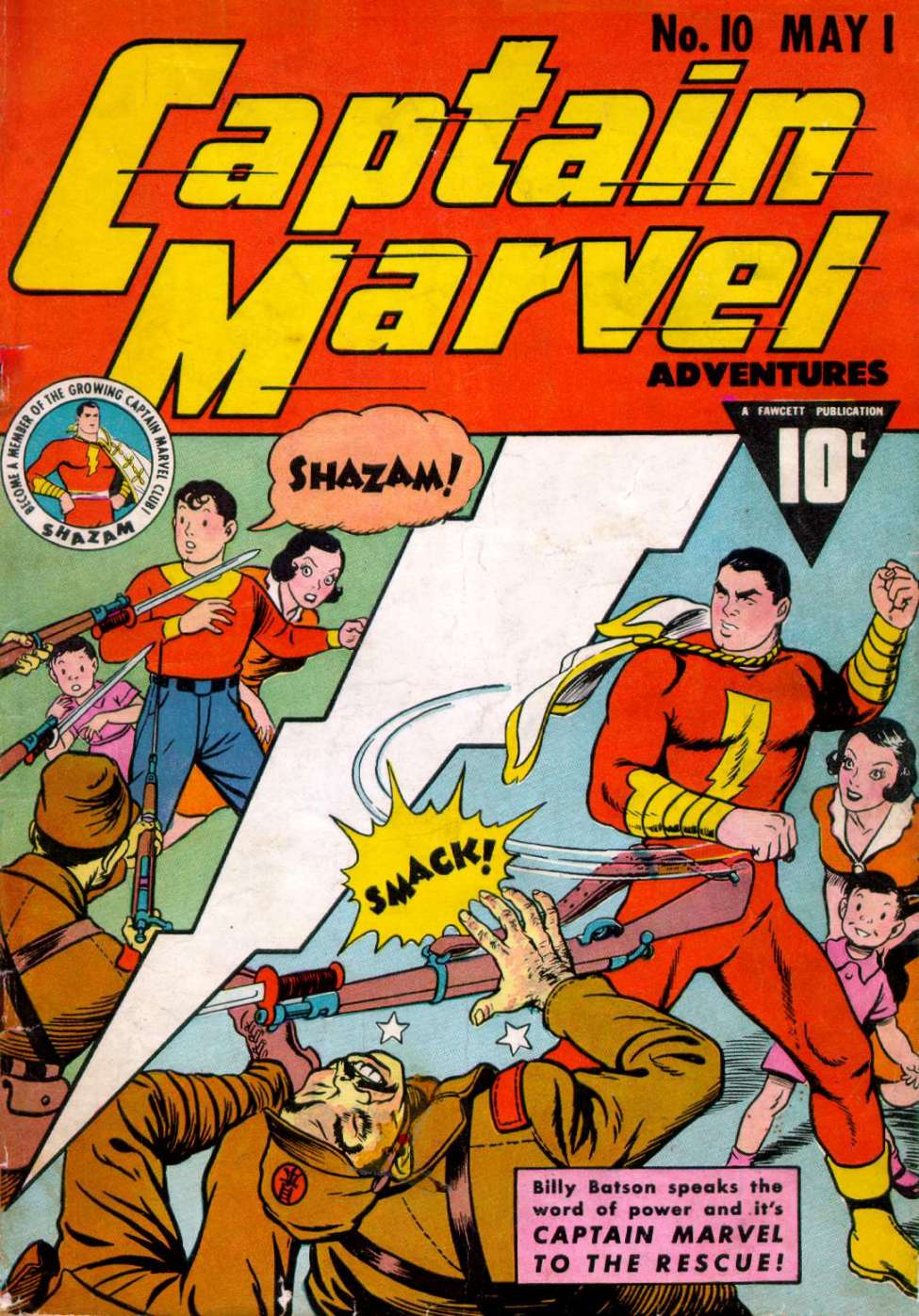 Comic Book Cover For Captain Marvel Adventures #10