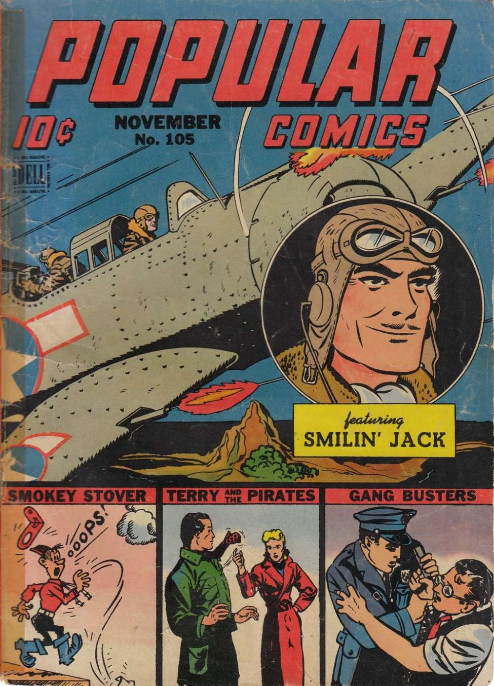 Comic Book Cover For Popular Comics #105