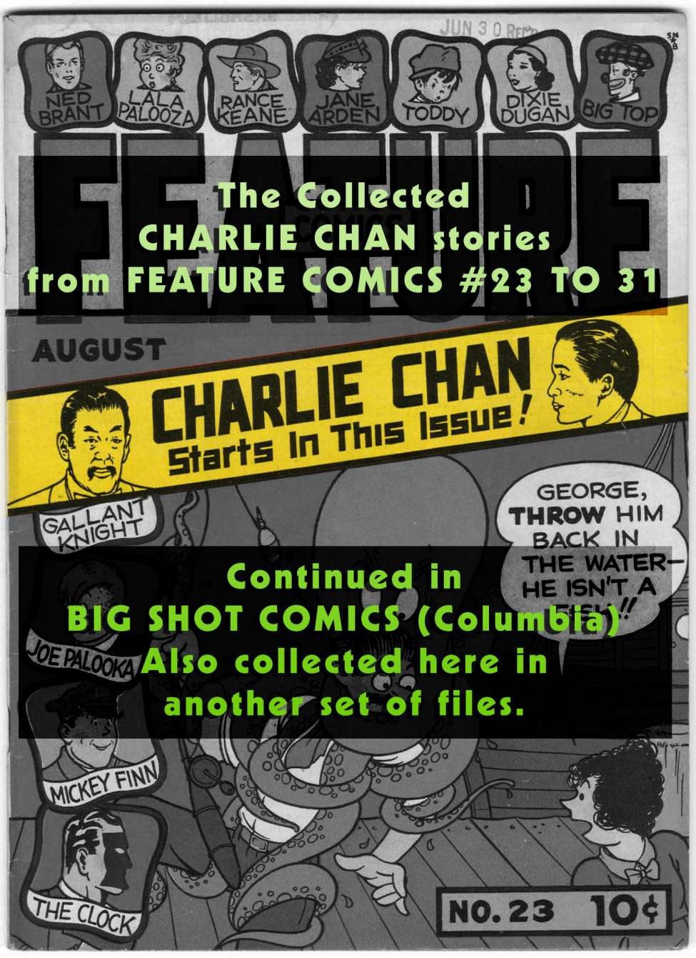 Comic Book Cover For Charlie Chan Stories from Quality's Feature Comics