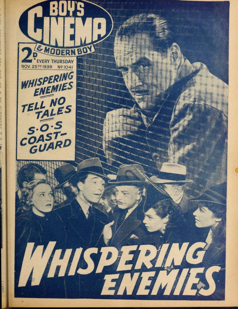 Comic Book Cover For Boy's Cinema 1041 - Whispering Enemies - Jack Holt