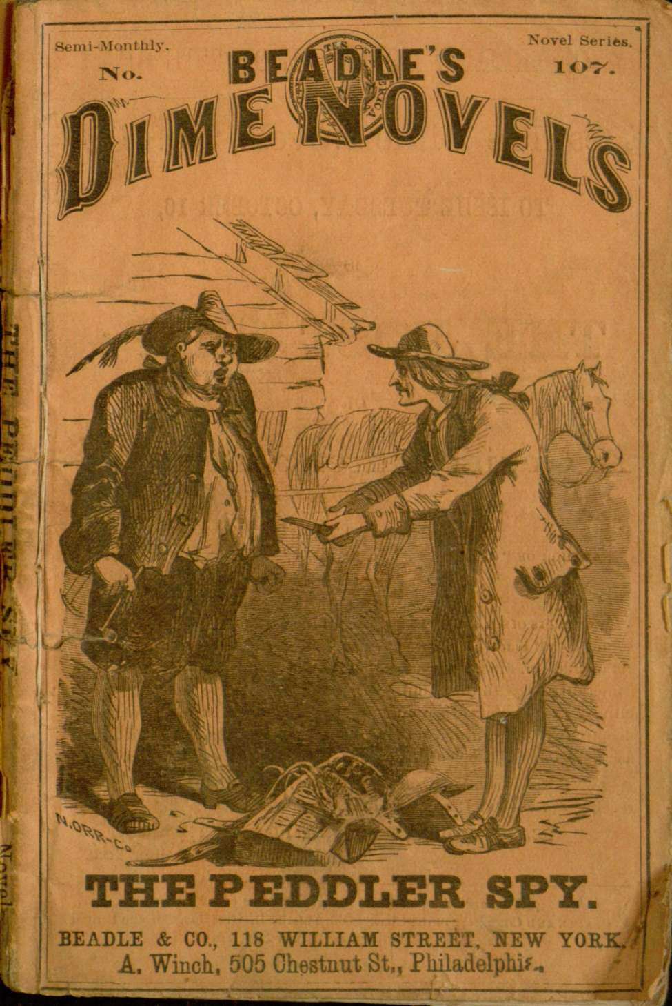 Comic Book Cover For The Peddler Spy or Dutchmen and Yankees A Tale of the Capture of Good Hope