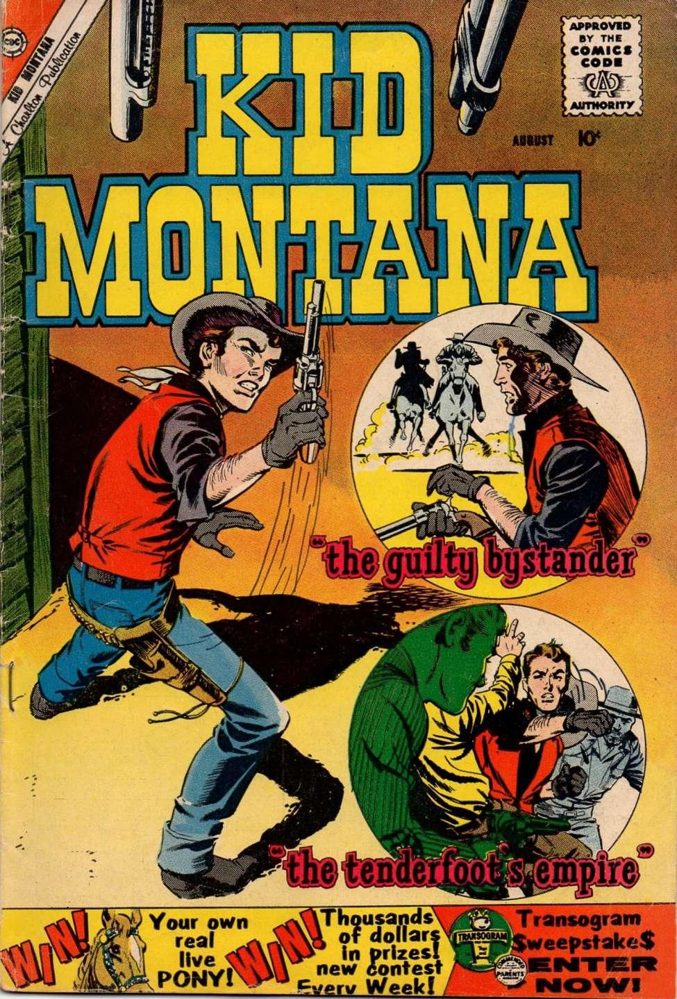 Comic Book Cover For Kid Montana #24