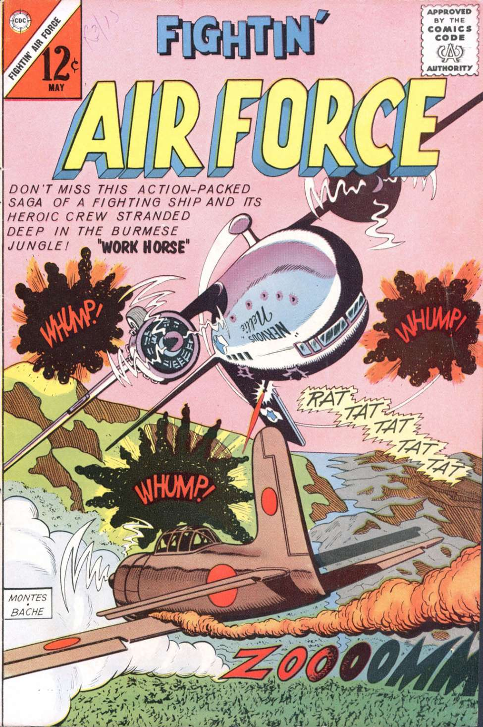 Comic Book Cover For Fightin' Air Force #38 - Version 2
