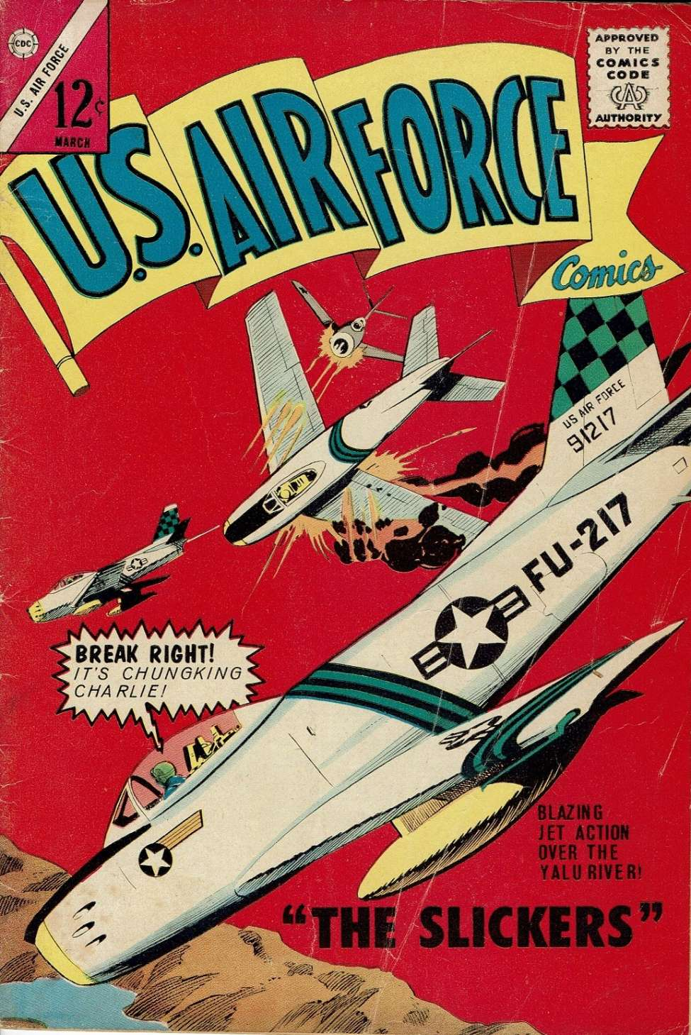 Comic Book Cover For U.S. Air Force Comics #32
