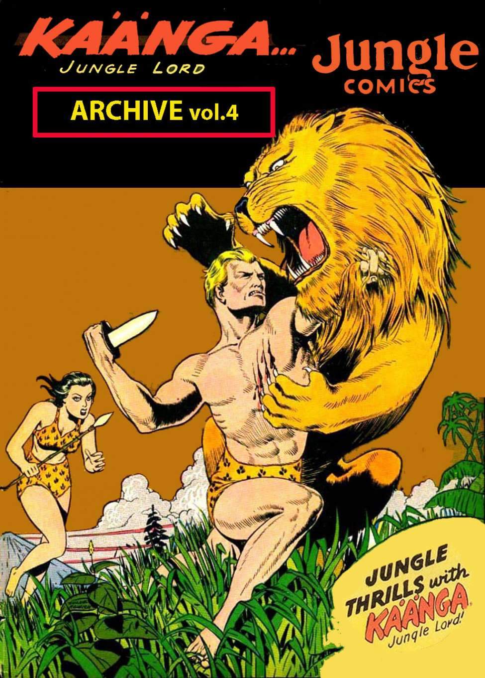 Comic Book Cover For Kaanga vol.4 -Jungle Comics Archive (Fiction House)