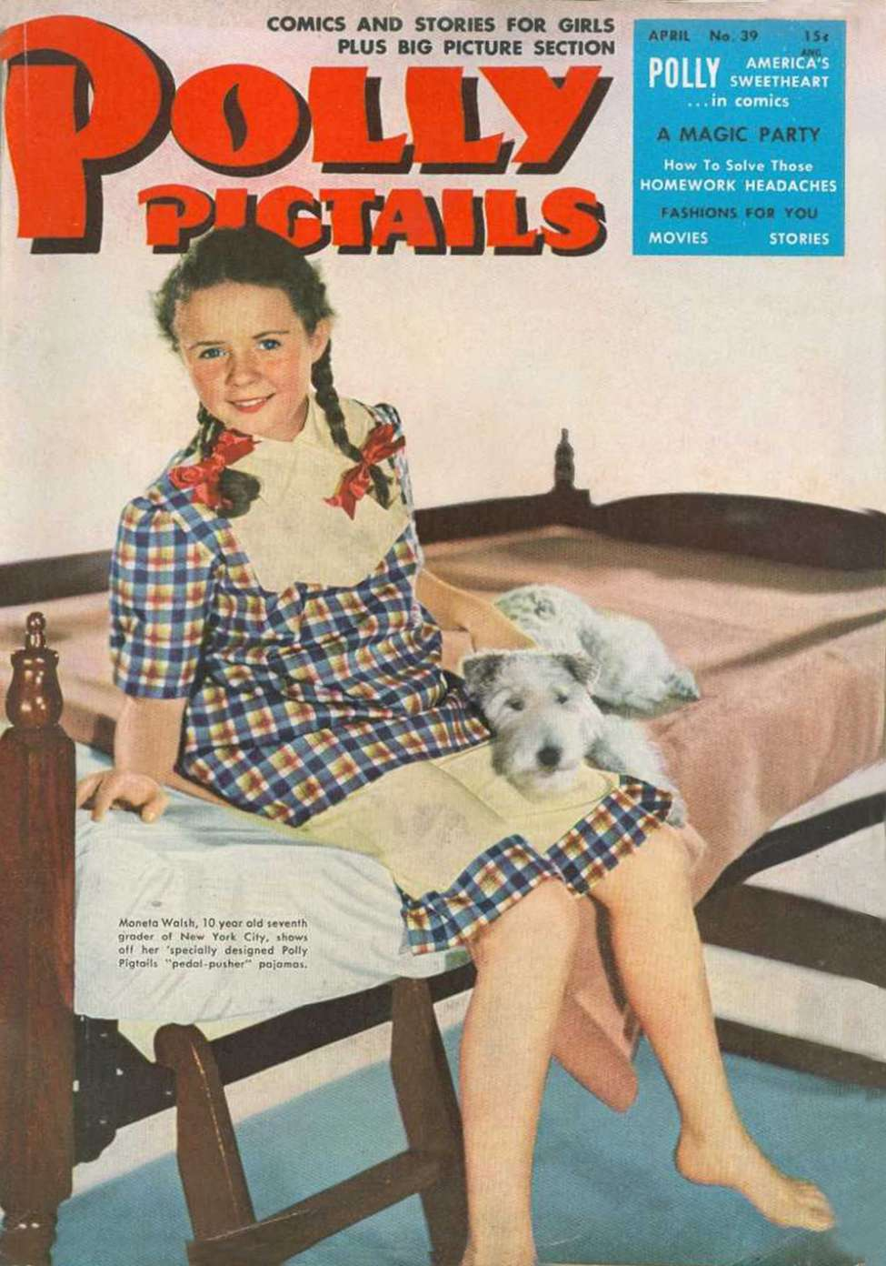 Comic Book Cover For Polly Pigtails #39