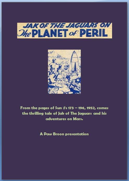 Comic Book Cover For Jak of The Jaguars on The Planet of Peril