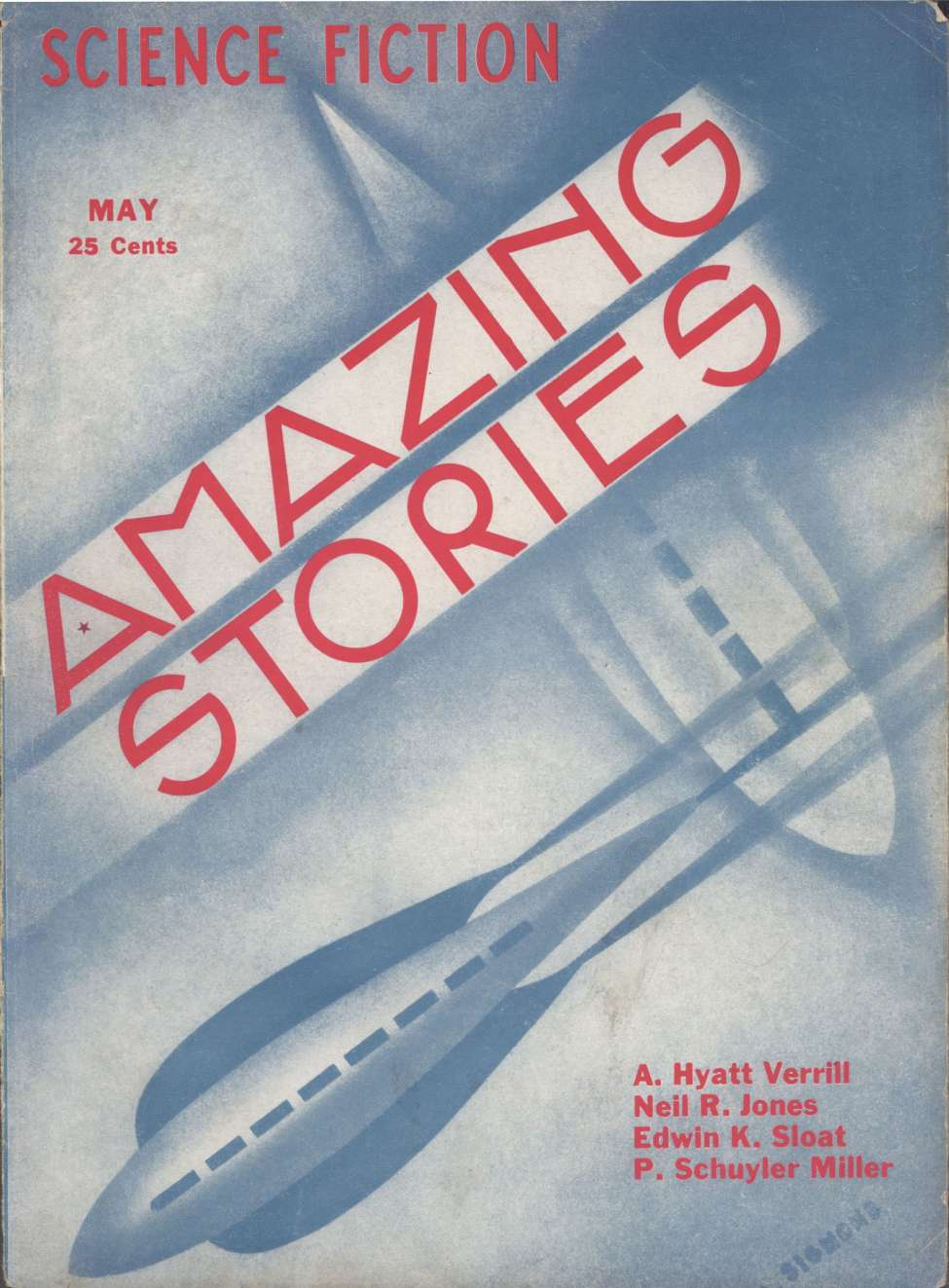 Comic Book Cover For Amazing Stories v08 02 - The Death Drum - A. Hyatt Verrill