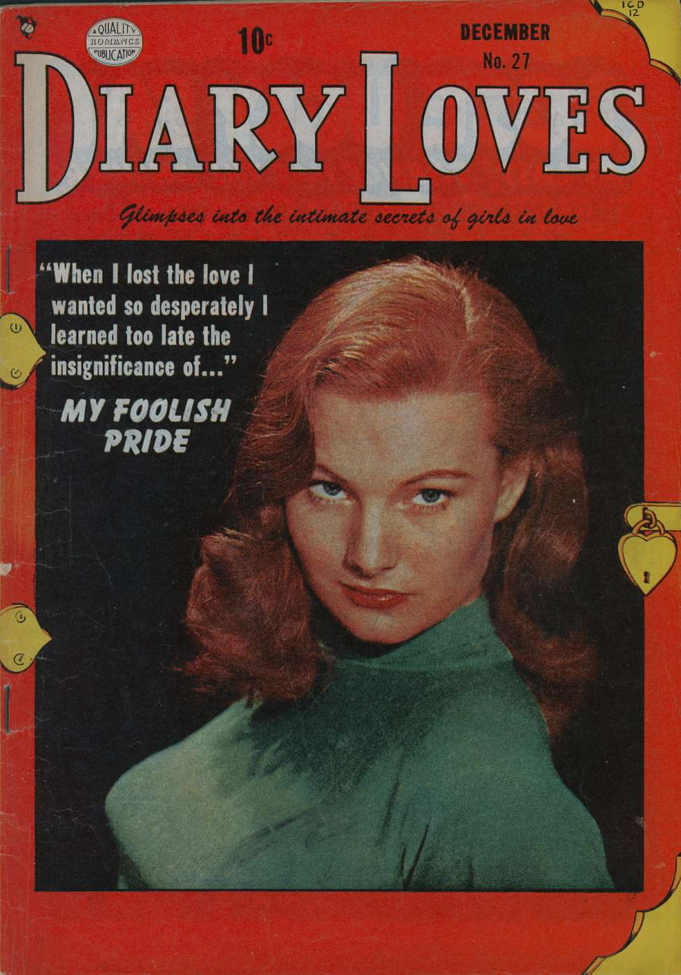 Comic Book Cover For Diary Loves #27
