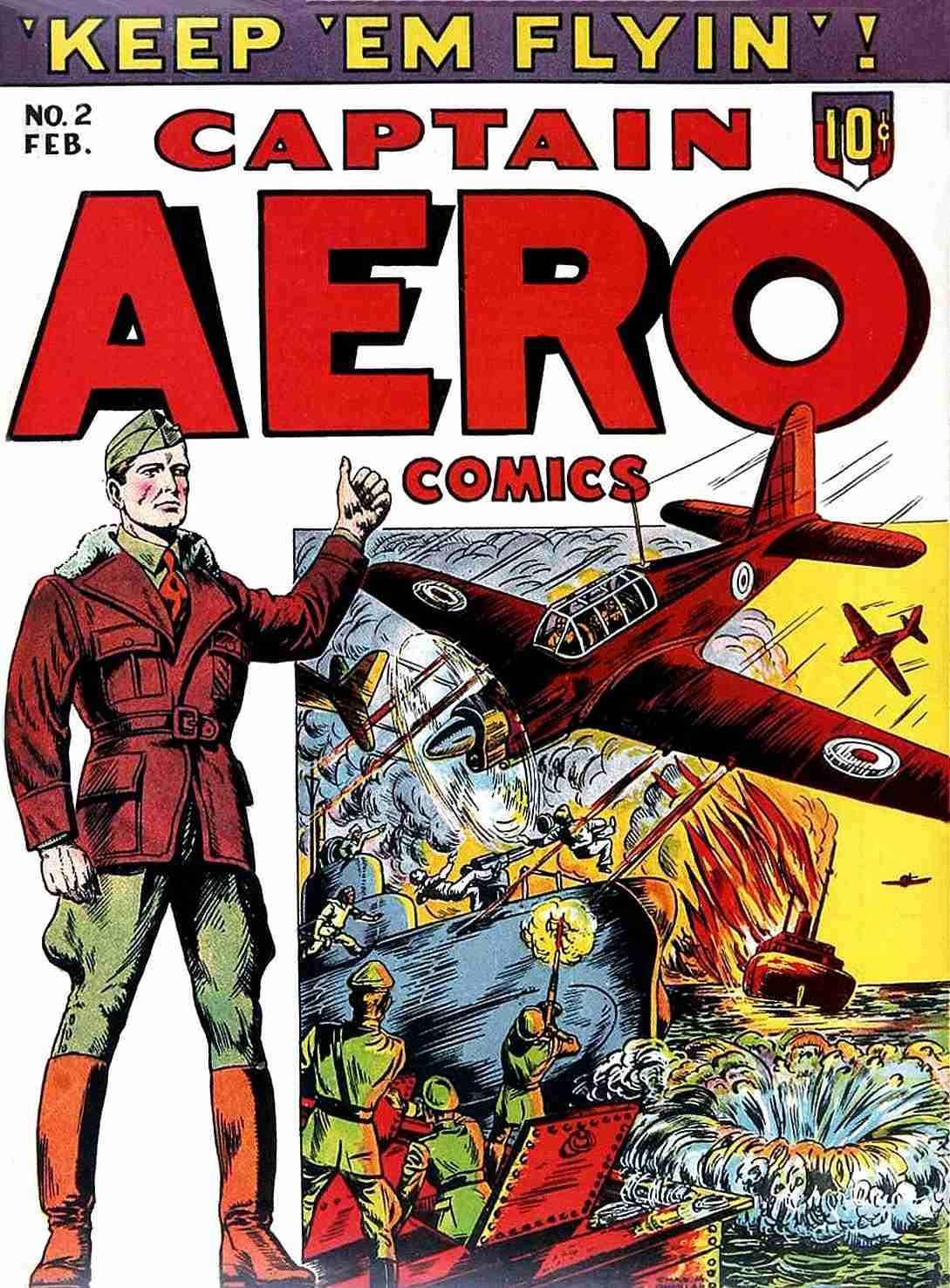 Comic Book Cover For Captain Aero Comics v1 8 (2)