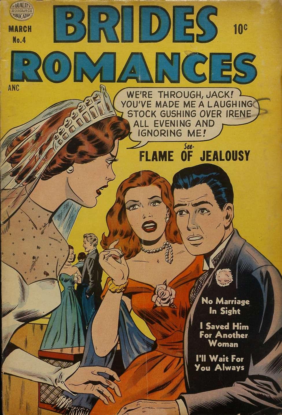 Comic Book Cover For Brides Romances #4
