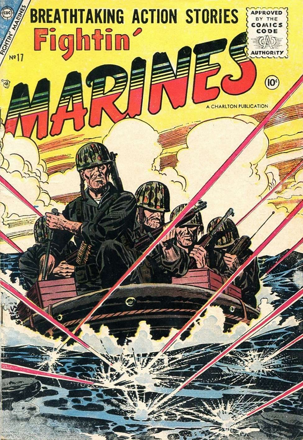 Comic Book Cover For Fightin' Marines #17