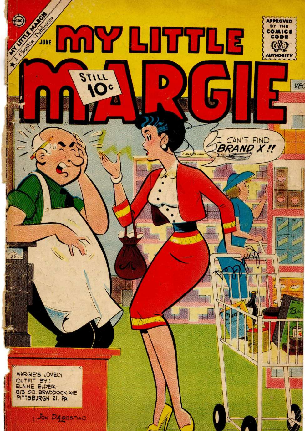 Comic Book Cover For My Little Margie #36