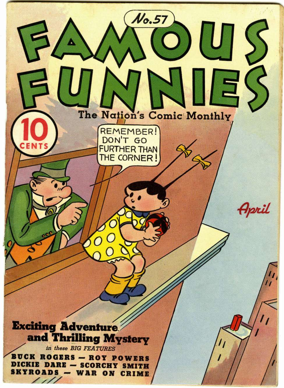 Comic Book Cover For Famous Funnies #57