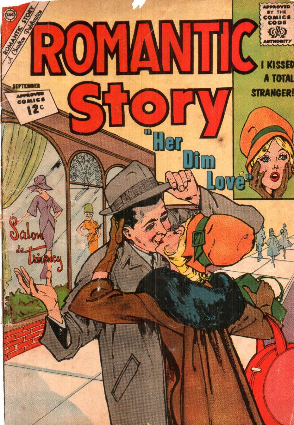 Comic Book Cover For Romantic Story #62