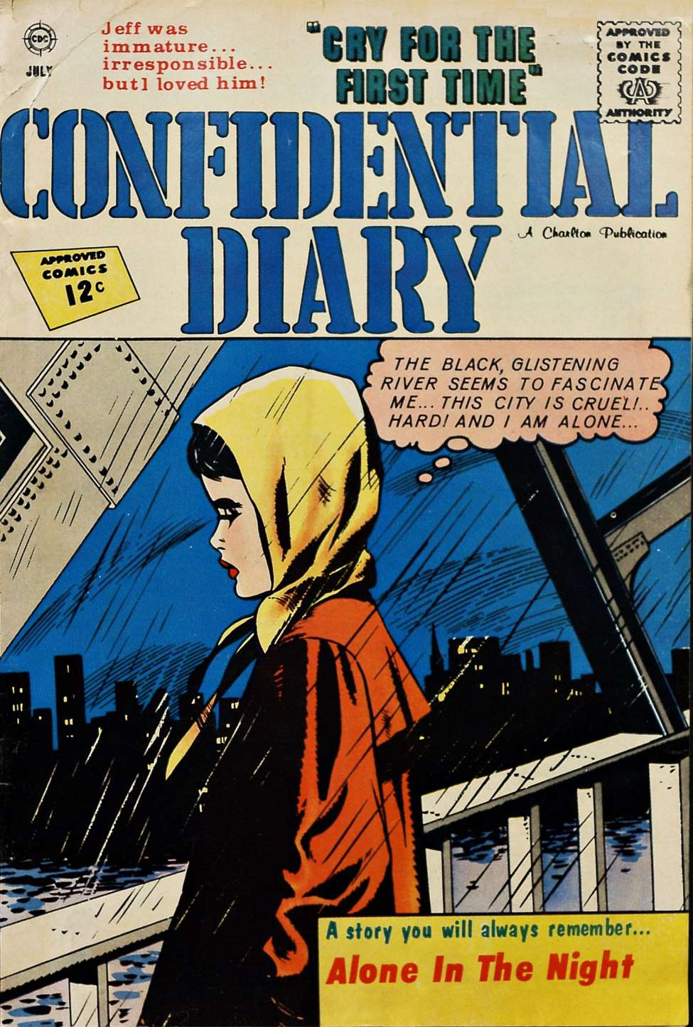 Comic Book Cover For Confidential Diary #13