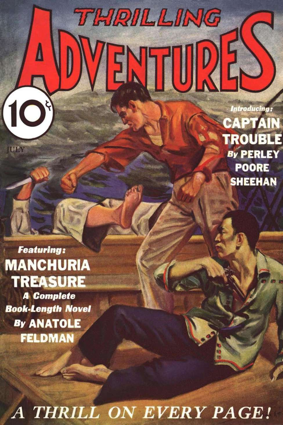 Comic Book Cover For Thrilling Adventures v02 03