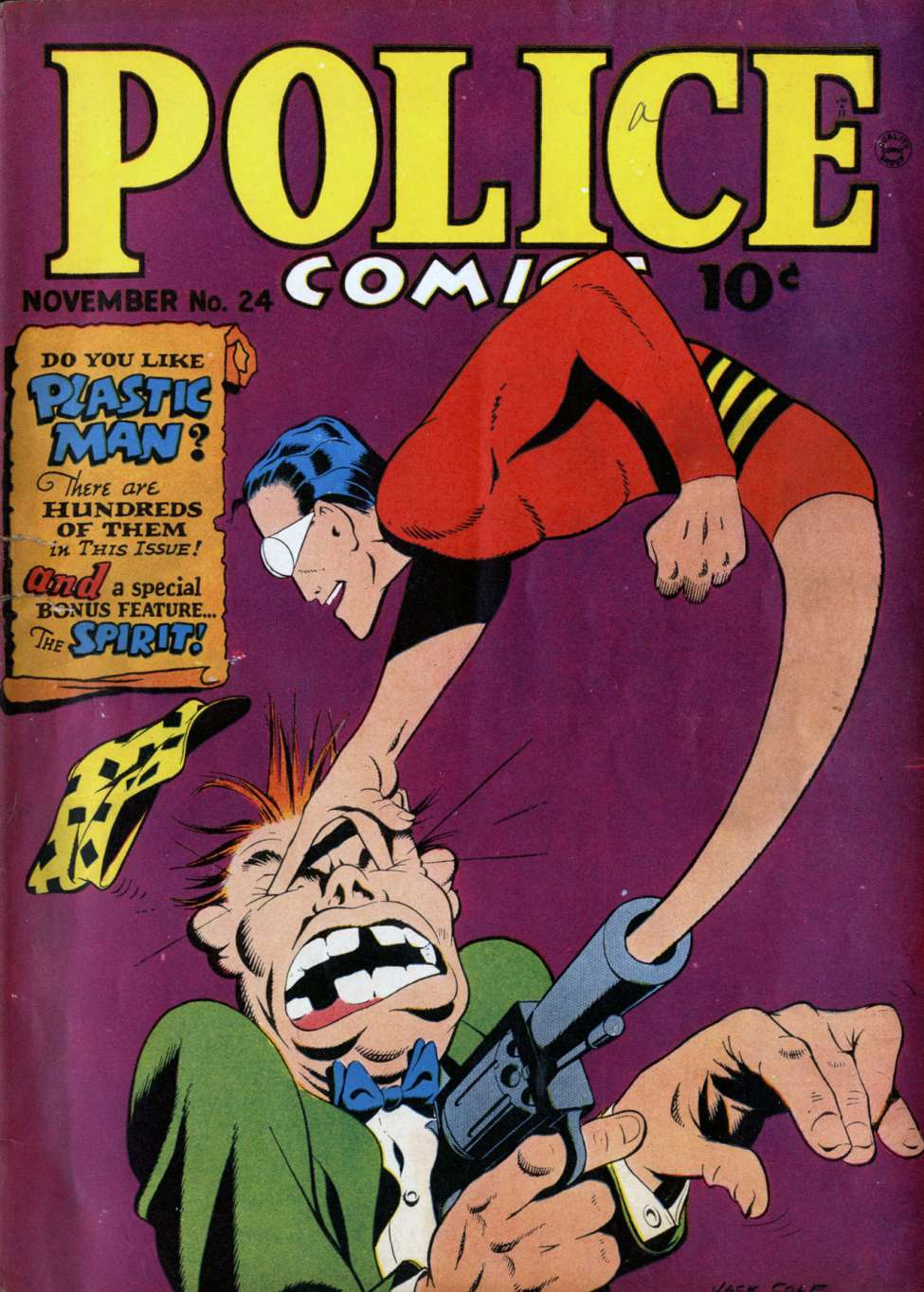Comic Book Cover For Police Comics #24