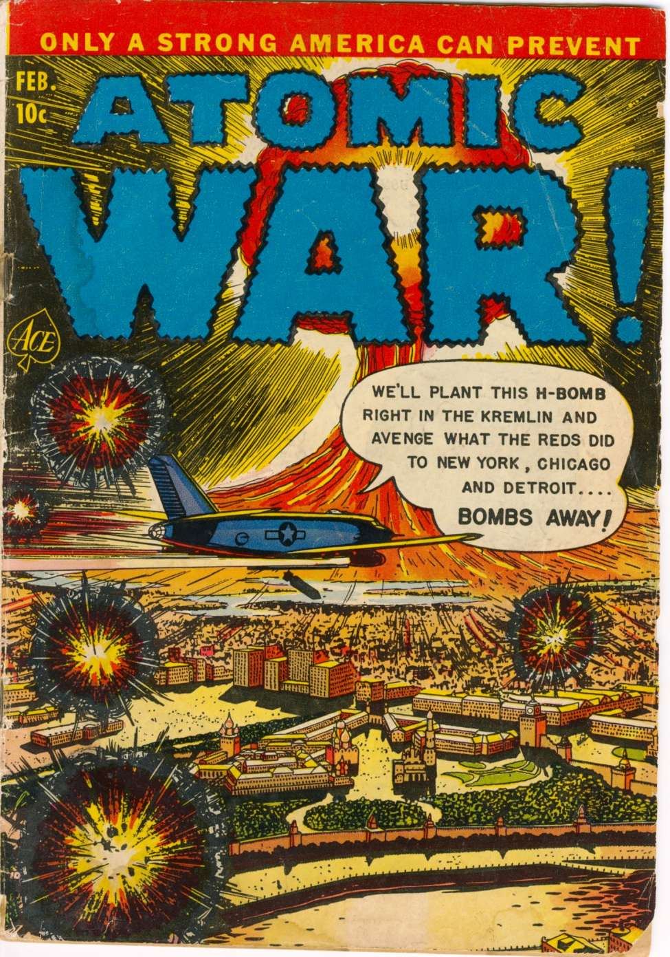 Comic Book Cover For Atomic War! #3