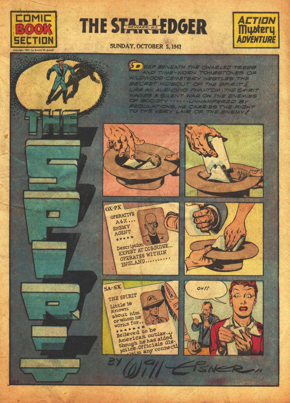 Comic Book Cover For The Spirit 10/5/1941