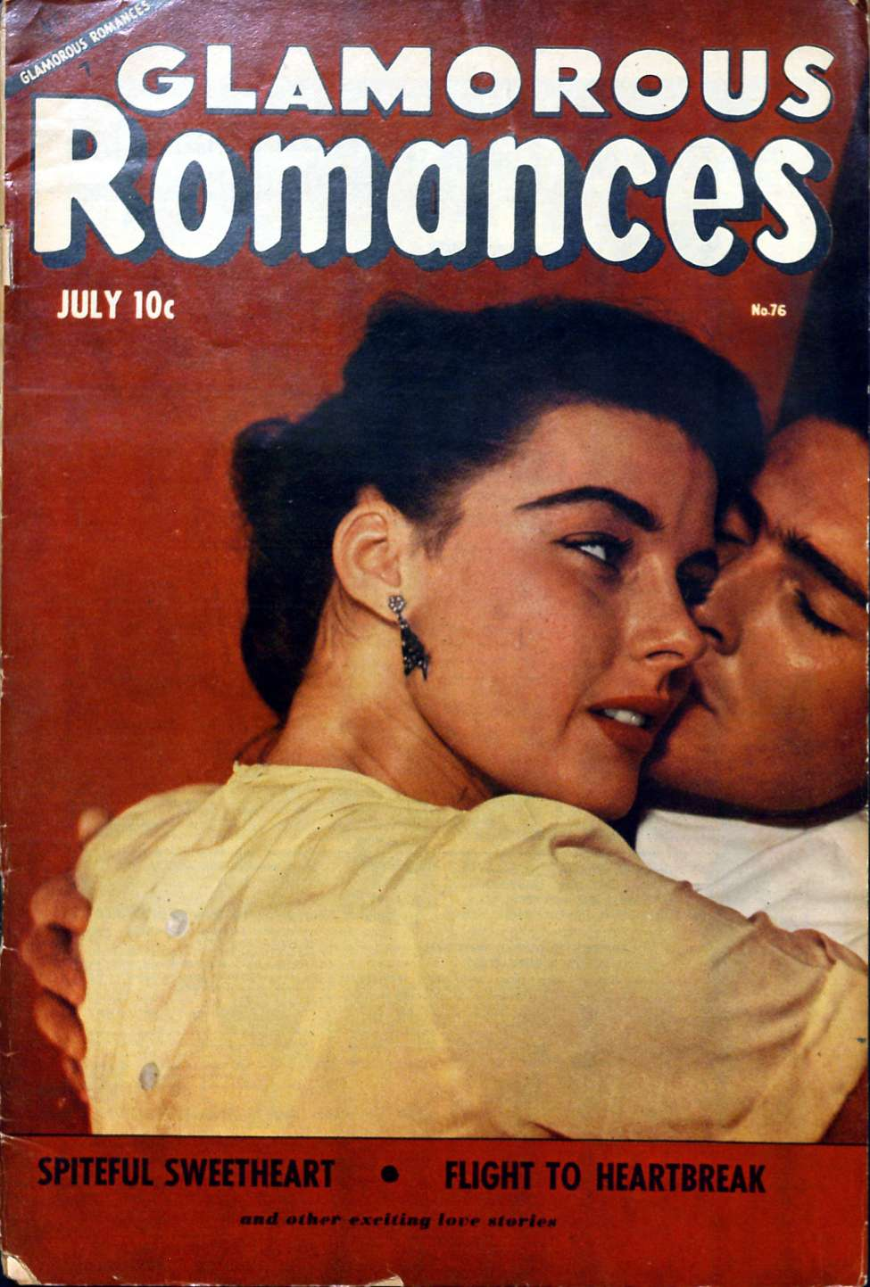 Comic Book Cover For Glamorous Romances #76