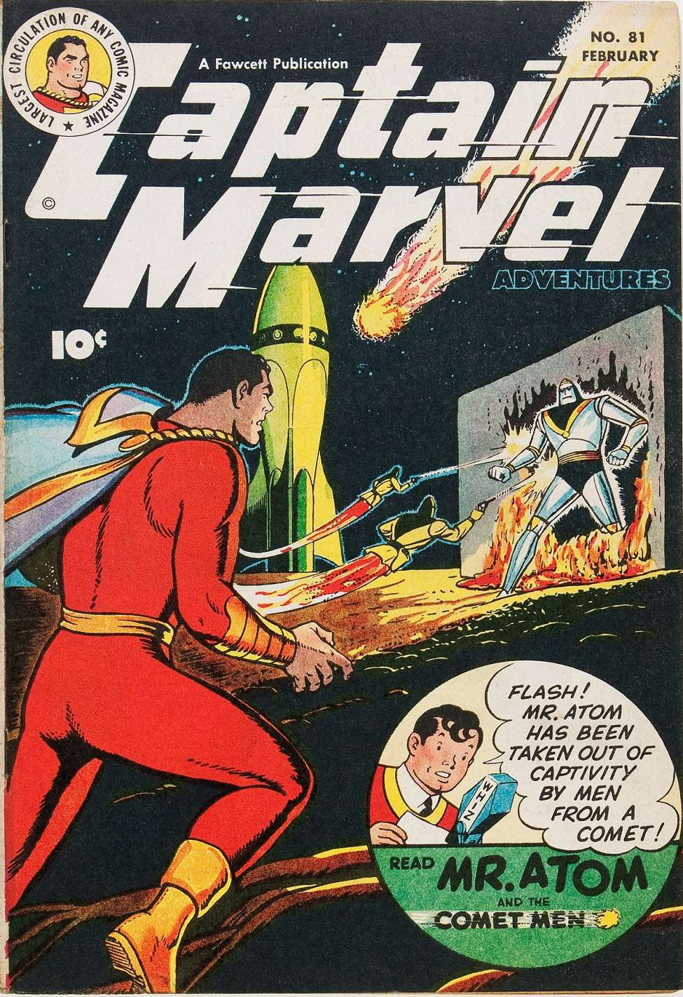 Comic Book Cover For Captain Marvel Adventures #81