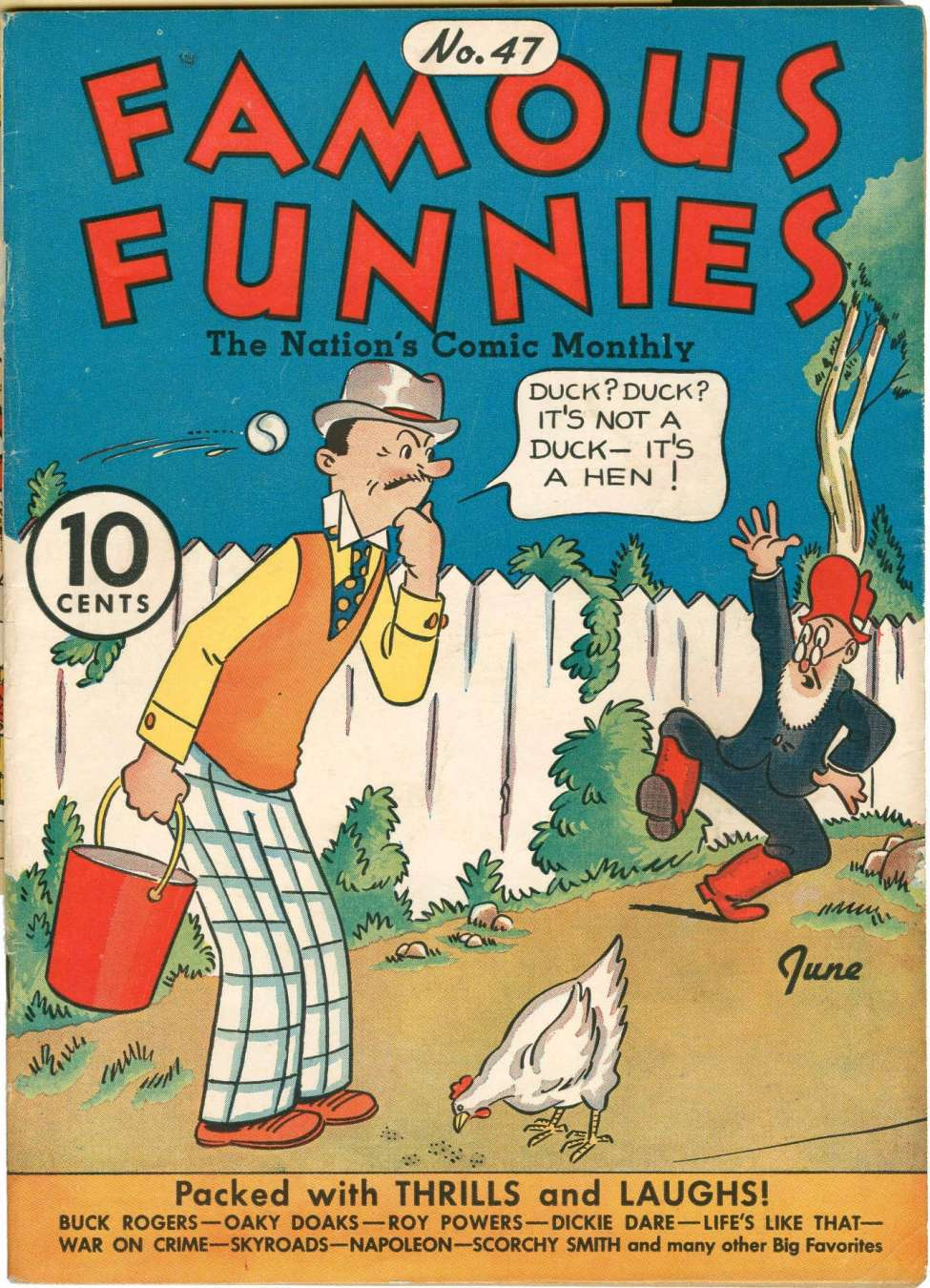 Comic Book Cover For Famous Funnies #47