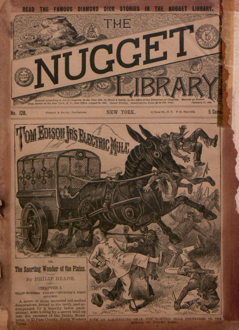 Comic Book Cover For v1 128 - Tom Edison Jr.'s Electric Mule