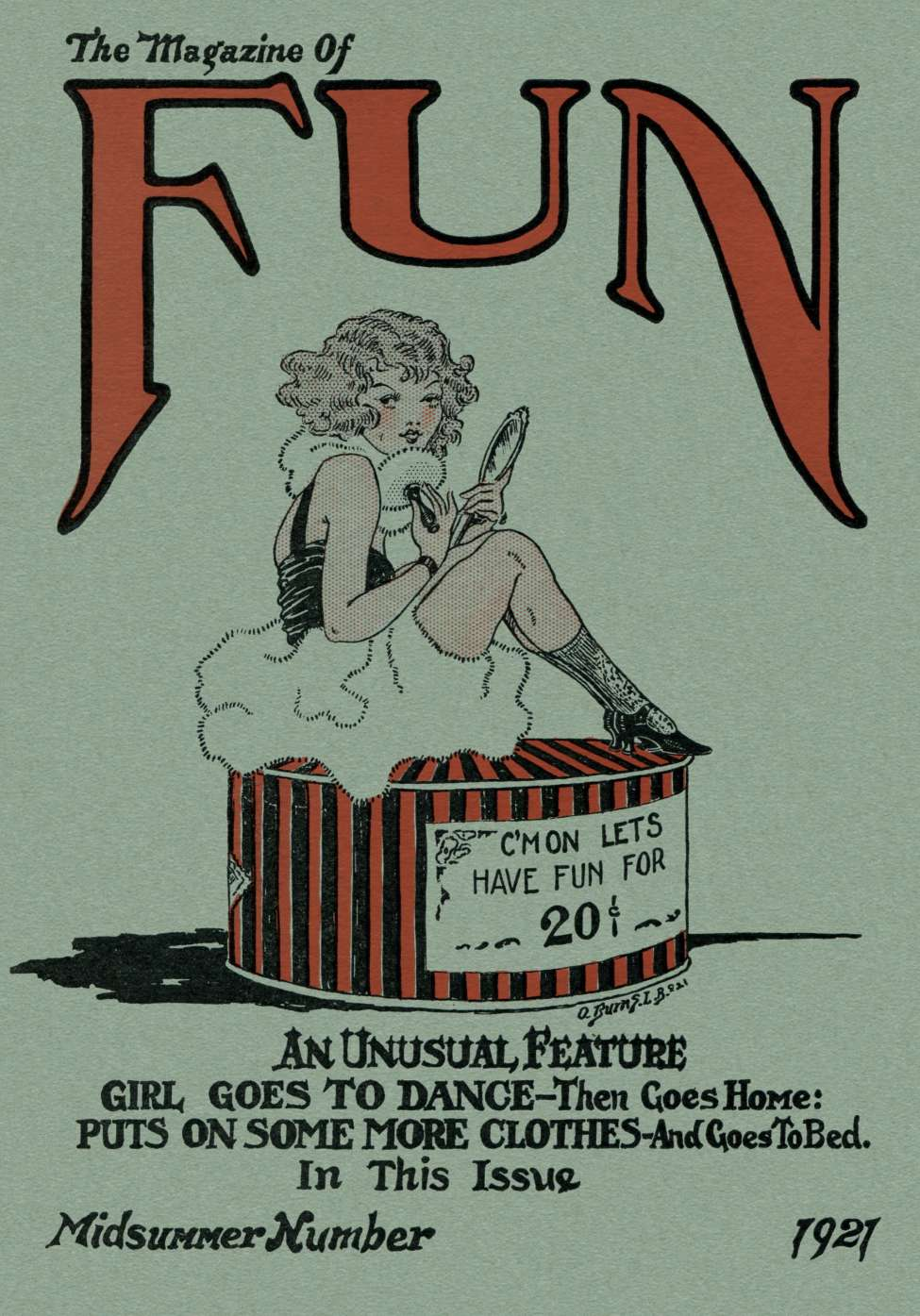 Comic Book Cover For The Magazine Of Fun v01 01