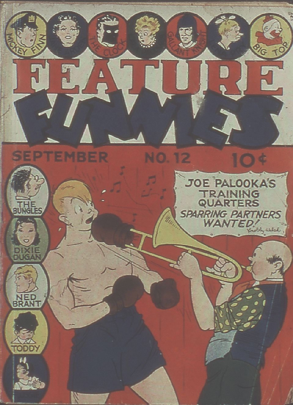 Comic Book Cover For Feature Funnies #12