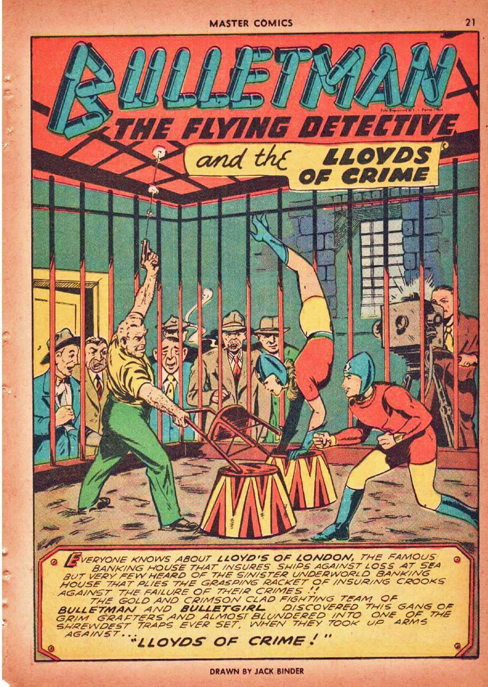 Comic Book Cover For Bulletman Archive Vol 10