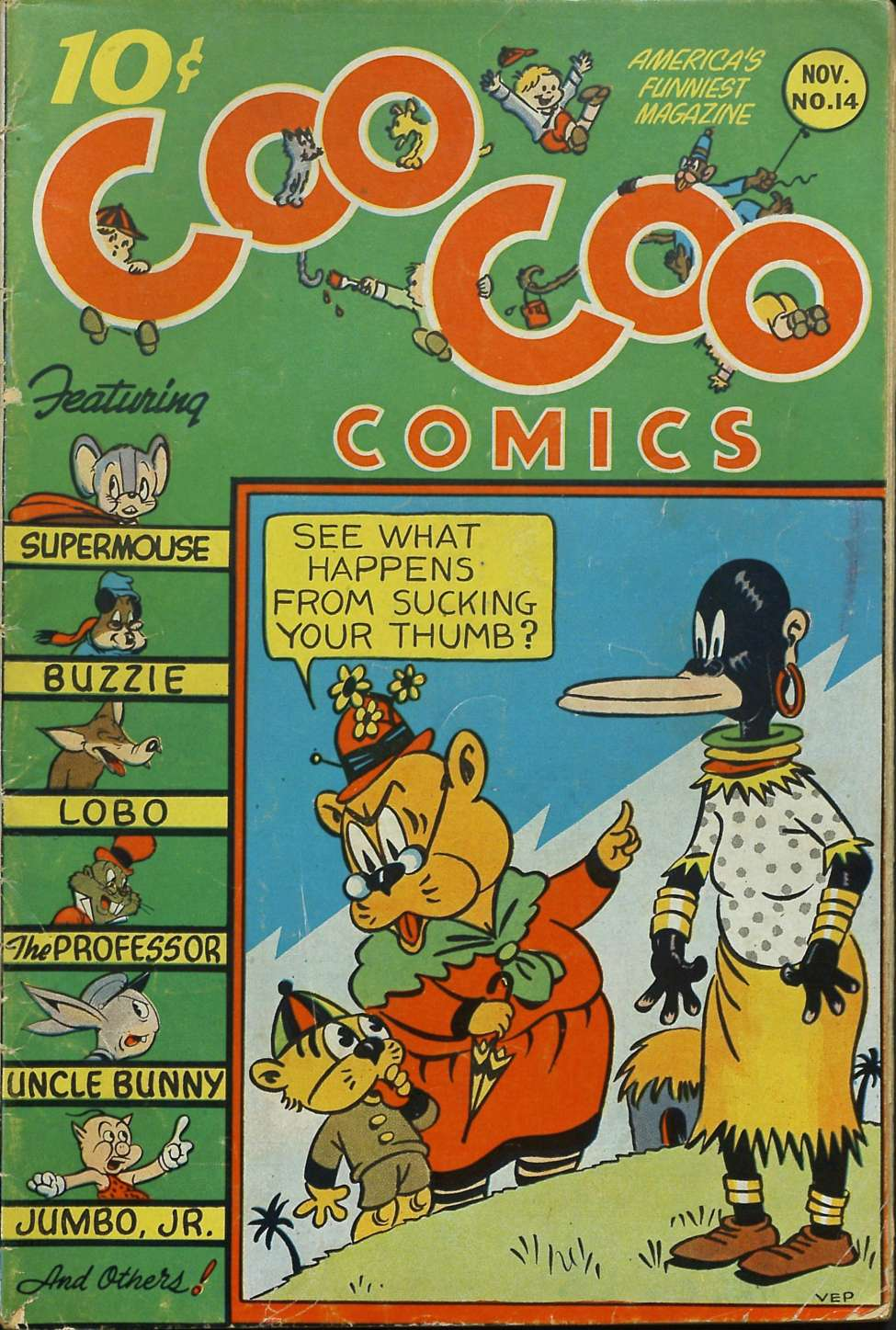 Comic Book Cover For Coo Coo Comics #14