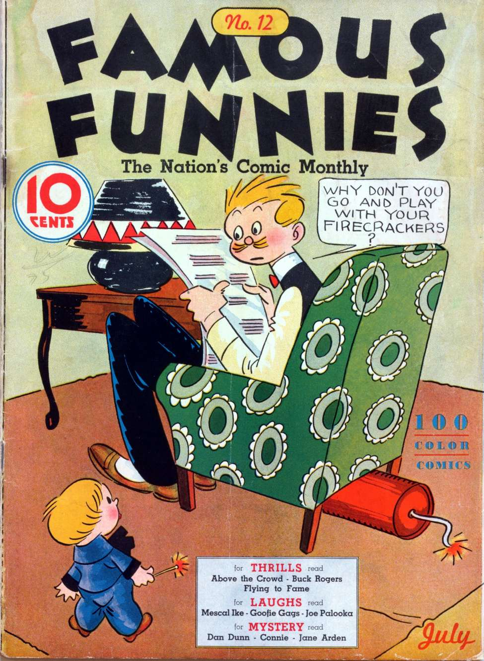 Comic Book Cover For Famous Funnies #12