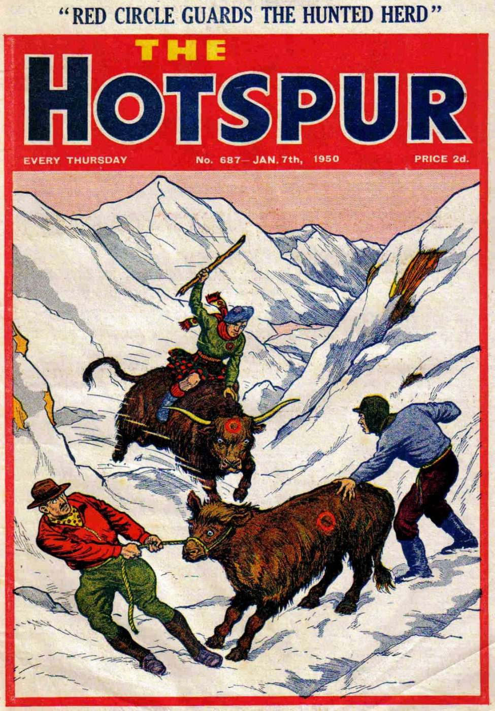 Comic Book Cover For The Hotspur 0687