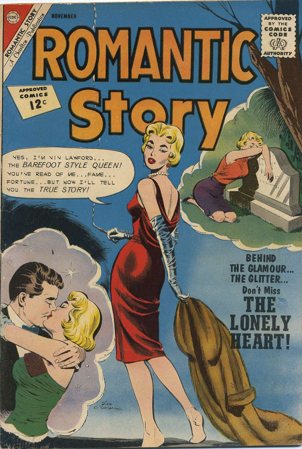 Comic Book Cover For Romantic Story #63