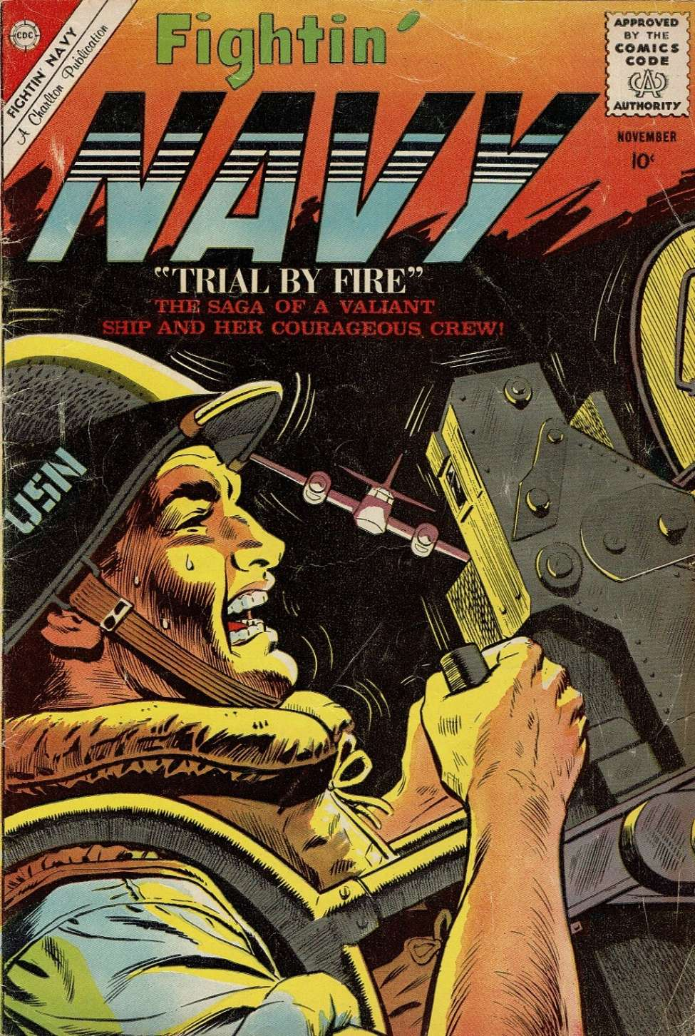 Comic Book Cover For Fightin' Navy #95