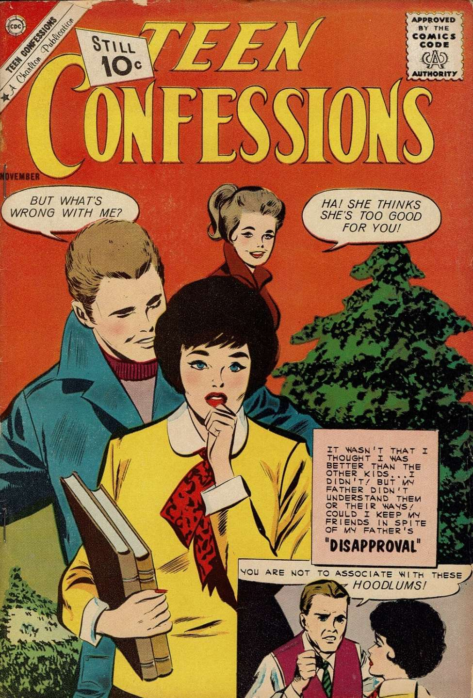 Comic Book Cover For Teen Confessions #14