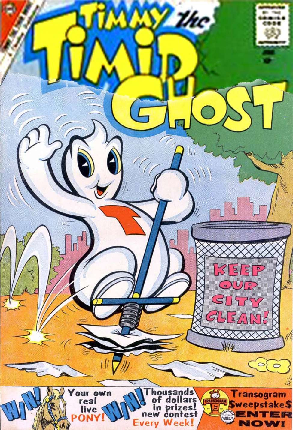 Comic Book Cover For Timmy the Timid Ghost #21