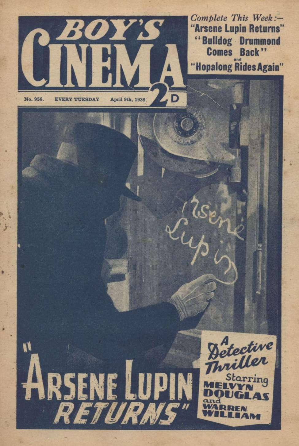 Comic Book Cover For Boy's Cinema 0956 - Arsene Lupin Returns starring Melvyn Douglas